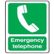 Safe Safety Sign - Emergency Telephone 063